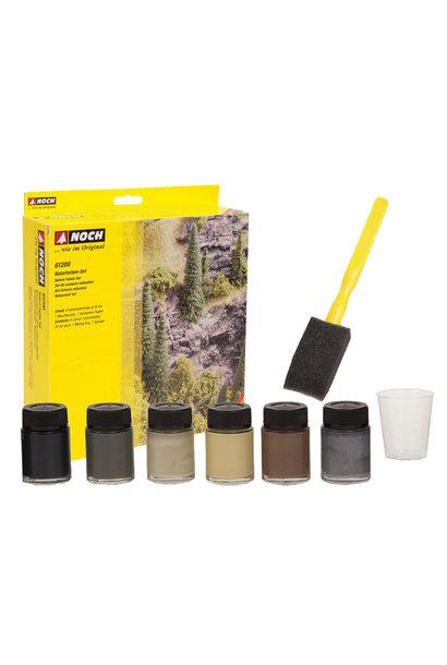 61200 Naturfarben-Set, 6 Farbkonzentrate