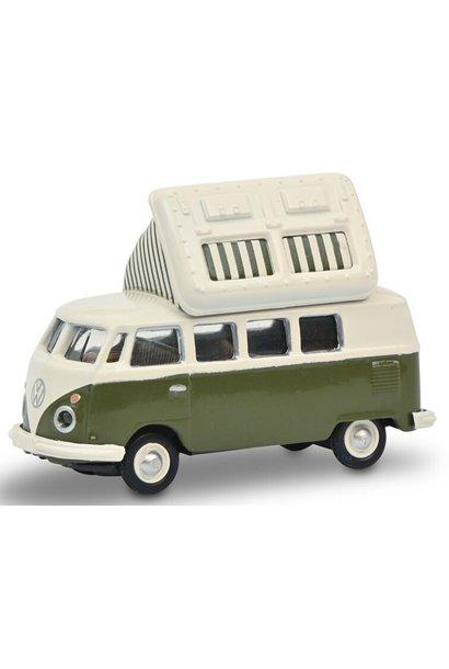 VW T1c Campingbus, groen/wit