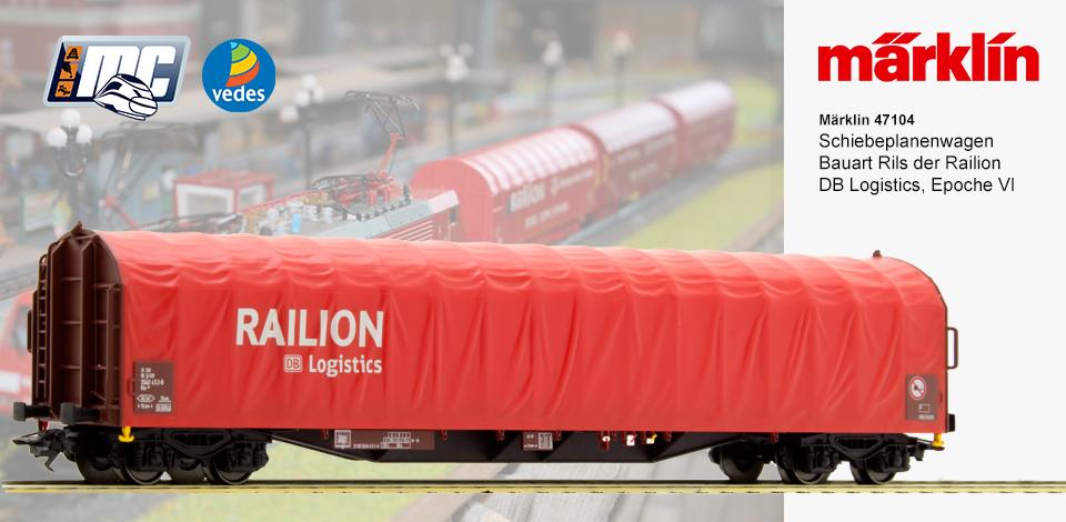 47104 Schuifwandwagen Railion DB - Exclusief model MC Vedes-1