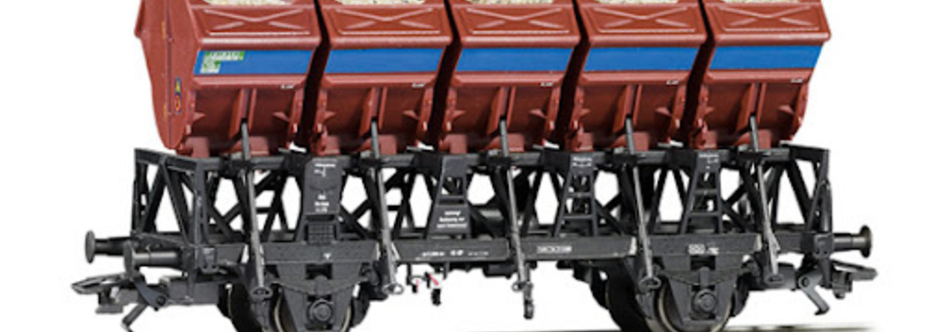 46354 schotterwagen van de DB - Eurotrain exlusief
