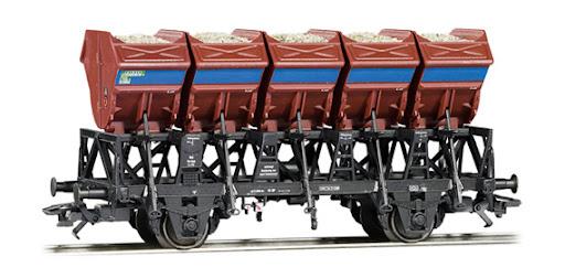 46354 schotterwagen van de DB - Eurotrain exlusief-1