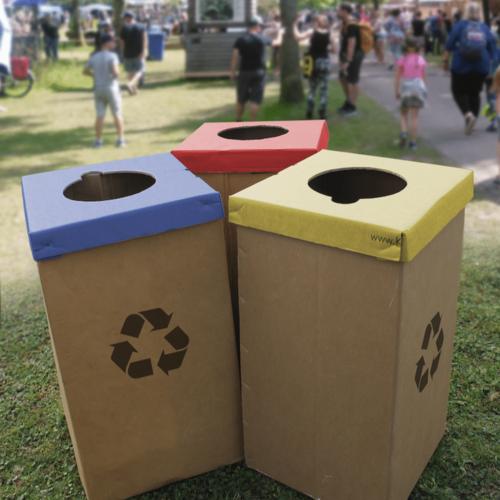 Cardboard Event Bins