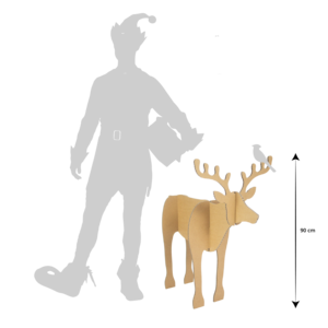 KarTent Set van 2 kartonnen Rendieren