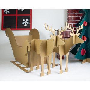 KarTent Cardboard Sleigh for Children