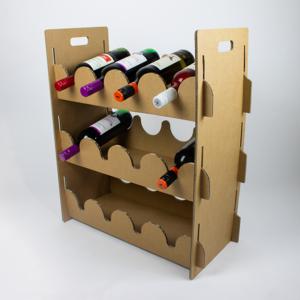 KarTent Sustainable Cardboard Wine Rack