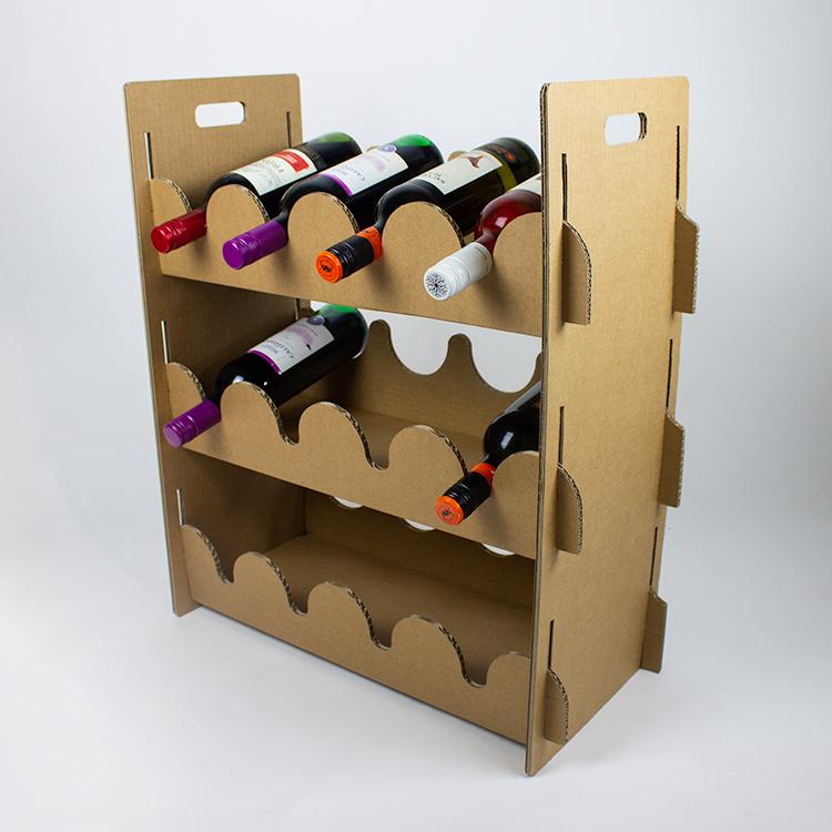 KarTent Duurzaam Kartonnen Wijnrek