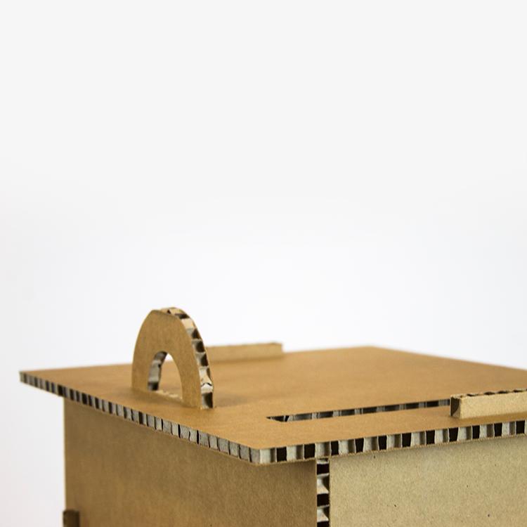KarTent Kartonnen Documentenkluis voor Thuiswerken