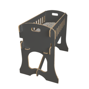 KarTent Cardboard Baby Crib Papercrib Black