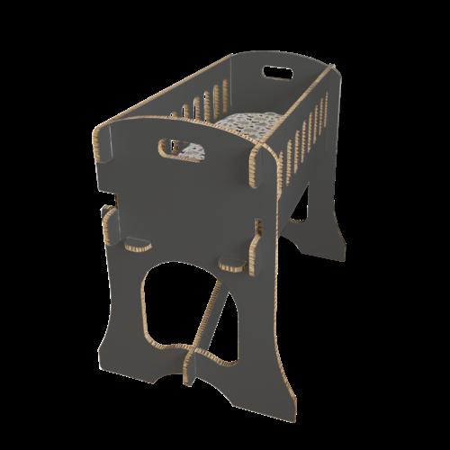 KarTent Babywieg - Papercrib Zwart