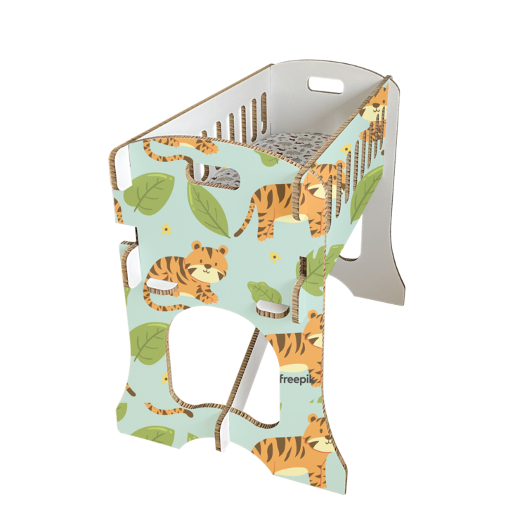 KarTent Baby Crib - Papercrib Tiger Blue