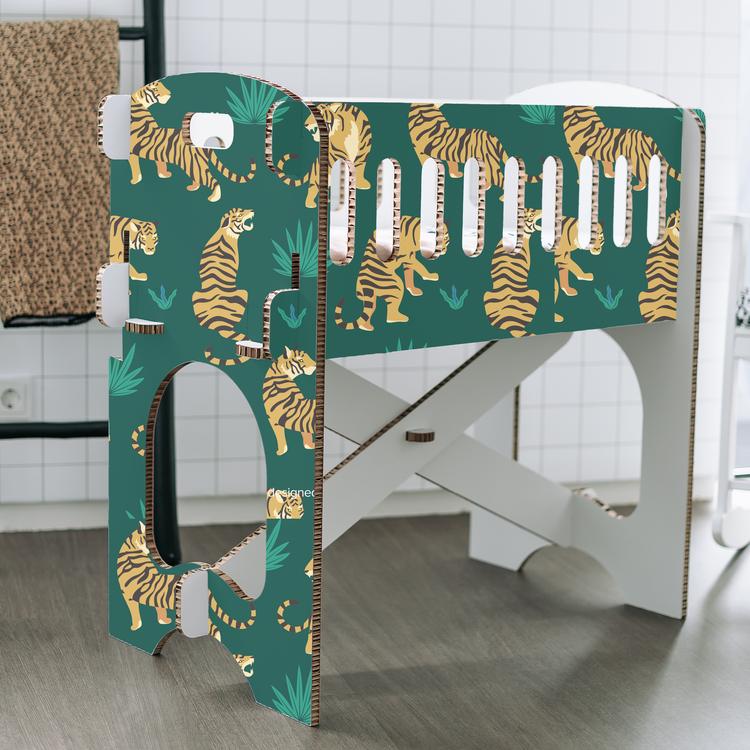KarTent Baby Crib - Papercrib Tiger Green