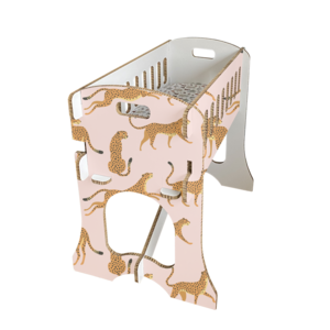KarTent Babywieg - Papercrib Luipaard Roze