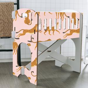 KarTent Baby Crib - Papercrib Leopard Pink