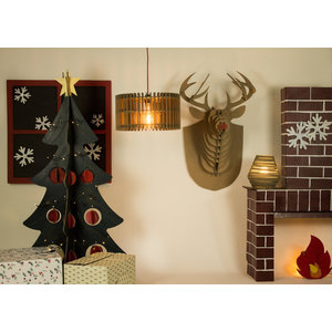 KarTent Cardboard Reindeer Head for on the wall