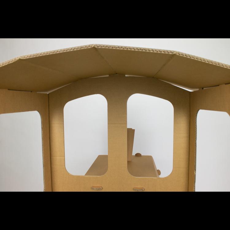 KarTent Sustainable Cardboard Train