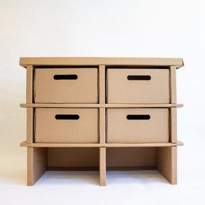 KarTent Cardboard Storage Cabinet