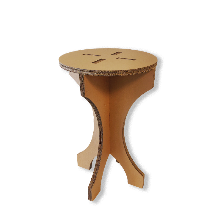 KarTent Cardboard Side Table