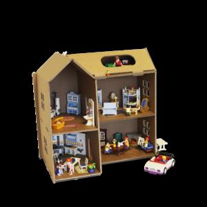 KarTent Cardboard Dollhouse