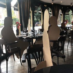 KarTent Lifesize Cardboard Figure - Seat Holder for Waiting Rooms / Restaurant Cafe