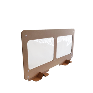 KarTent Cardboard Division Panel for Cafe, Restaurants and Office - Open Low