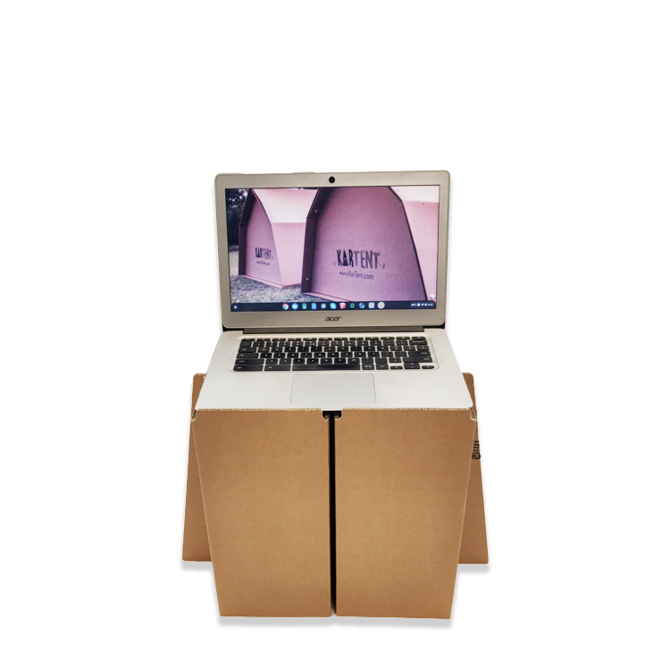 KarTent Cardboard Ergonomic Workstation