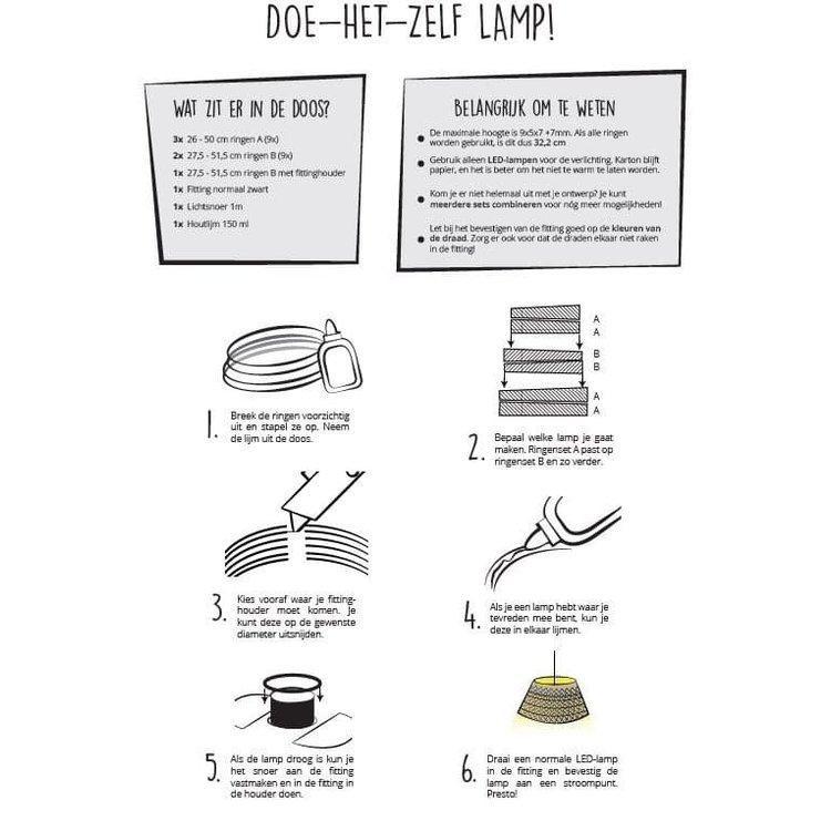 KarTent Kartonnen Doe-Het-Zelf Lampenkap