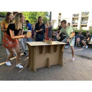 KarTent Cardboard Ping Pong Table with Cardboard Bats + a Pingpong Ball