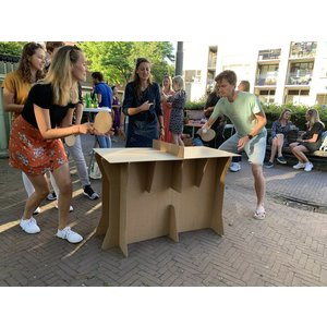 KarTent Cardboard Ping Pong Table