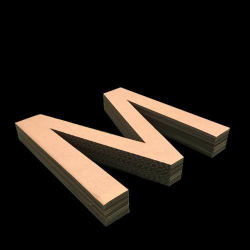 KarTent Kartonnen Letters 100 cm hoog