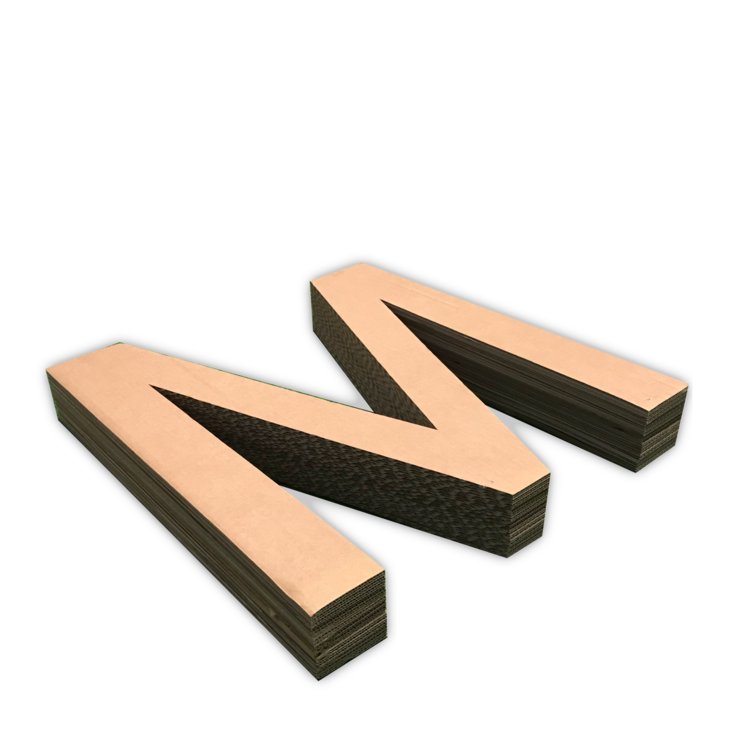 KarTent Kartonnen letters 100cm hoog
