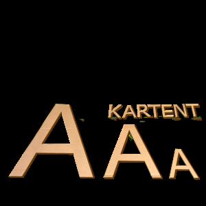 KarTent Cardboard letters 35 cm high