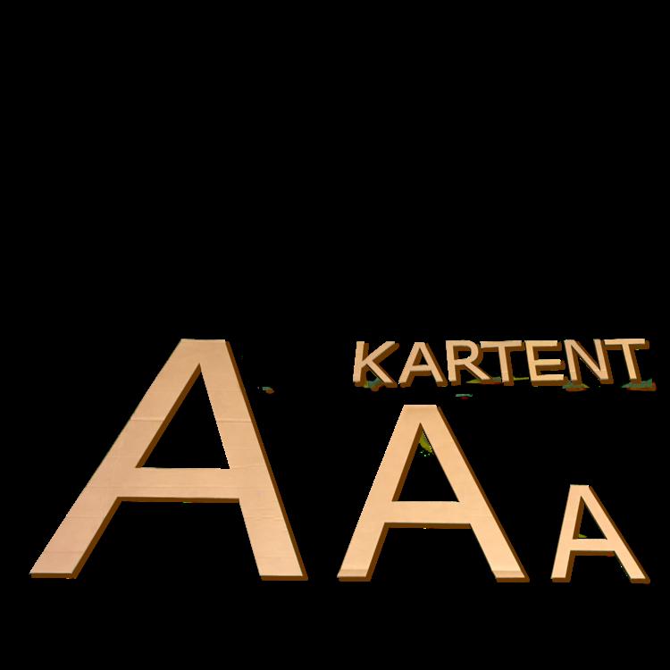 KarTent Kartonnen letters 70 cm hoog