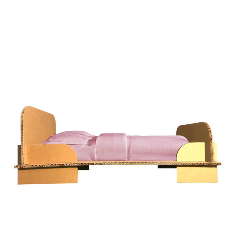KarTent Cardboard Doll's Bed