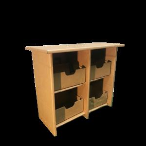 KarTent Cardboard Two by Two Dresser
