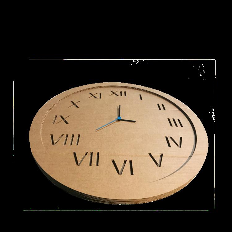 KarTent Cardboard Wall Clock