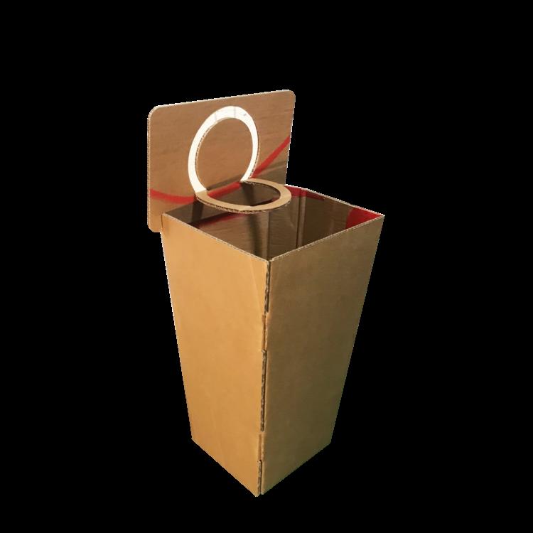 KarTent Kartonnen Basketbal Prullenbak