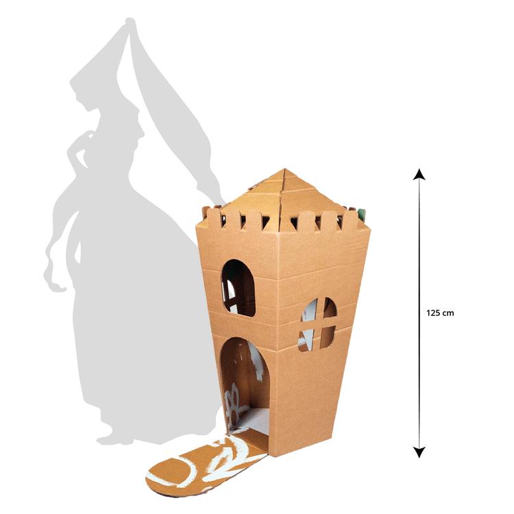 KarTent Groot Kartonnen Speelkasteel