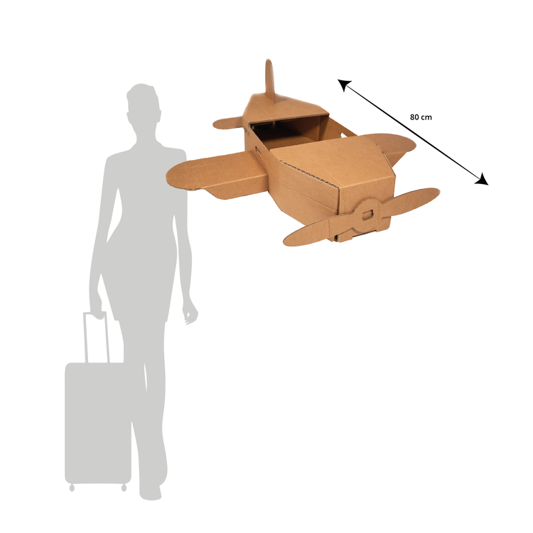 KarTent Big Cardboard Toy Airplane