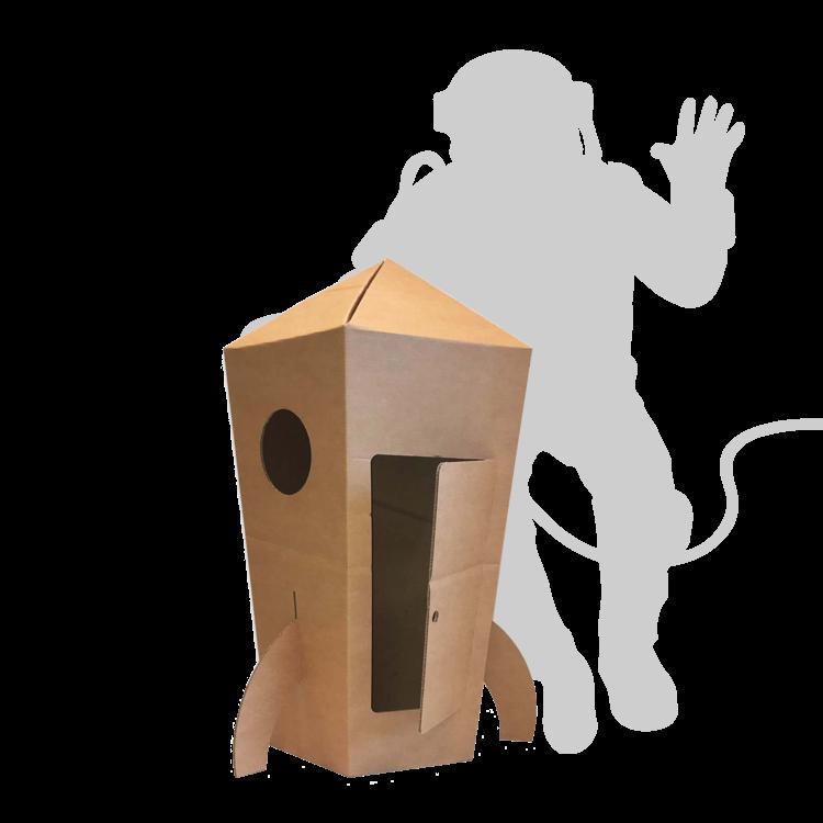 KarTent Big Cardboard Space Rocket