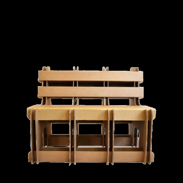 KarTent Sustainable Cardboard Block Bench