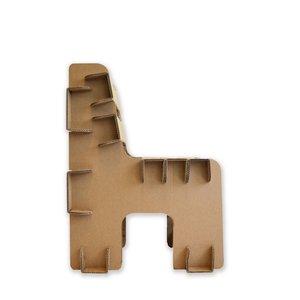 KarTent Kartonnen Blok Stoel voor kinderen en volwassenen