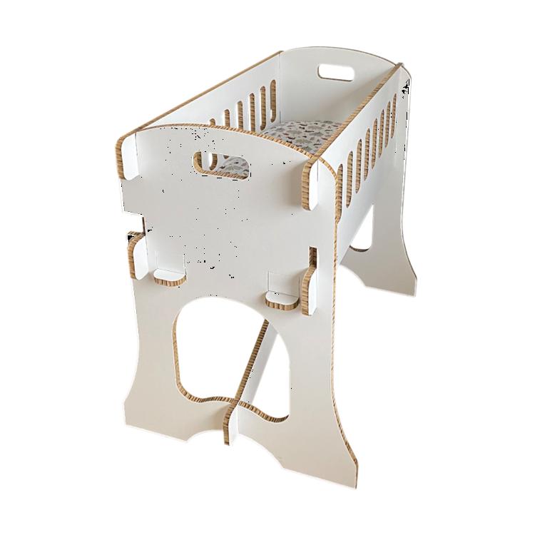 KarTent Kartonnen Babywieg Papercrib Gekleurd