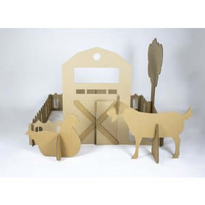 KarTent Cardboard Farm with Farm Animals