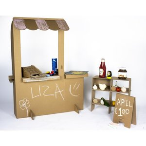 KarTent Cardboard Kids Playing Shop