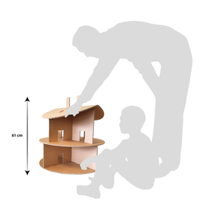 KarTent Cardboard Doll House Round