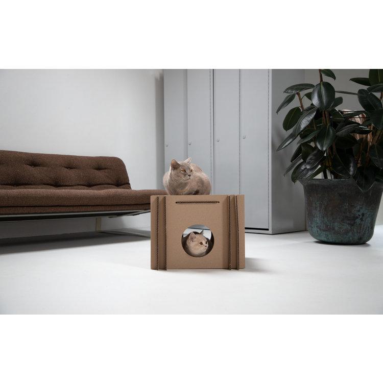KarTent Cardboard Cat Cube