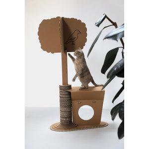 KarTent Kartonnen Katten Krabpaal met boom