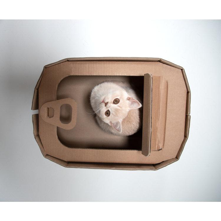 KarTent Kartonnen Kattenmand als Tonijnblik