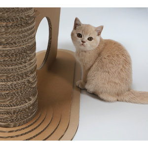 KarTent Cardboard Cat Scratching Post with tree
