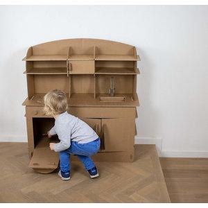 KarTent Cardboard Kids Playing Kitchen